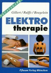 Cover of: Elektrotherapie.