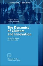 Cover of: The Dynamics of Clusters and Innovation
