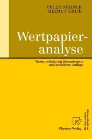 Cover of: Wertpapieranalyse