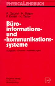Cover of: Buroinformations-Und-Kommunikationssysteme