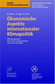 Cover of: Ökonomische Aspekte internationaler Klimapolitik
