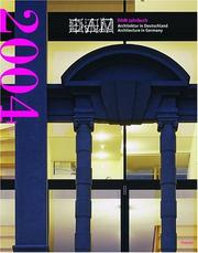Cover of: Architektur in Deutschland / Architecture in Germany