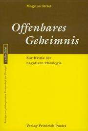 Cover of: Offenbares Geheimnis