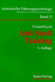 Cover of: Anti- Streß- Training. Autogenes Training mit Yoga und Meditation.