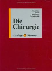 Cover of: Die Chirurgie.