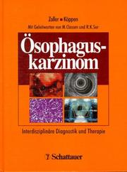 Cover of: Ösophaguskarzinom. Interdisziplinäre Diagnostik und Therapie.