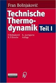 Cover of: Technische Thermodynamik Teil I