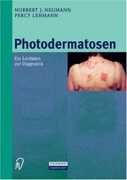 Cover of: Photodermatosen
