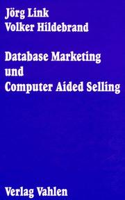 Cover of: Database Marketing und Computer Aided Selling.