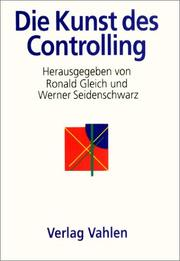 Cover of: Horvath. Die Kunst des Controlling.