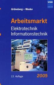 Cover of: Arbeitsmarkt Elektrotechnik, Informationstechnik 2003.