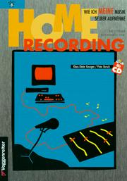 Cover of: Home Recording. Inkl. CD.