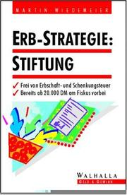 Cover of: Erb- Strategie Stiftung.