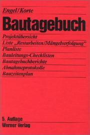 Cover of: Bautagebuch.