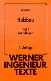 Cover of: Werner-Ingenieur-Texte (WIT), Bd.48, Holzbau