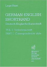 Cover of: German-English Shorthand, Tl.1, Correspondence style