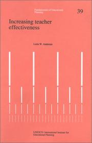 Cover of: Increasing teacher effectiveness