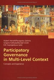 Cover of: Participatory Governance in Mult-Level Context