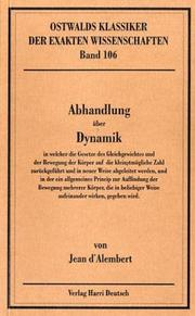 Cover of: Abhandlung über Dynamik.