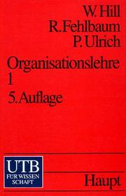 Cover of: Organisationslehre 1.