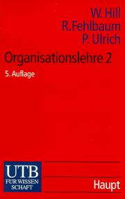 Cover of: Organisationslehre 2.