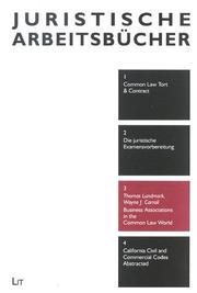 Cover of: Business Associations in the Common Law World