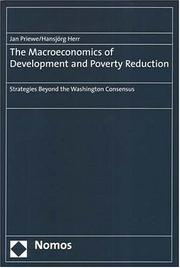 Cover of: The Macroeconomics of Development And Poverty Reduction