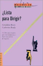 Cover of: Lista Para Dirigir (Mujeres en Management)