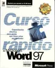 Cover of: MS Word 97 Curso Rapido