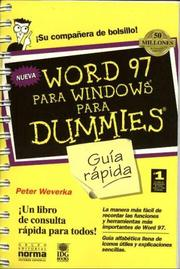 Cover of: Word 97 Para Windows para Dummies -Guia rapida