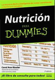 Cover of: Nutricion Para Dummies / Nutrition for Dummies