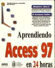 Cover of: Aprendiendo Access 97 en 24 Horas