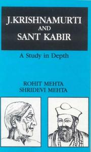 Cover of: J. Krishnamurti and Sant Kabir