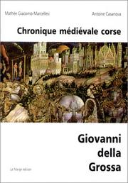 Cover of: Chronique médiévale corse