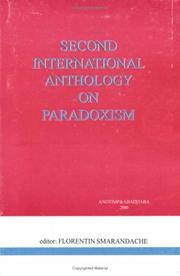 Cover of: Second International Anthology on Paradoxism (poems, prose, dramas, essays, letters)