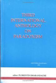 Cover of: Third International Anthology on Paradoxism (paradoxist distichs, tautological distichs, dualistic distichs)
