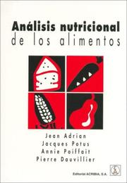 Cover of: Analisis Nutricional de Los Alimentos