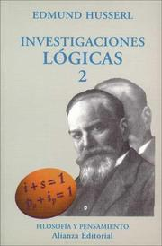 Cover of: Investigaciones Logicas 2