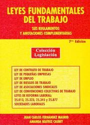 Cover of: Leyes Fundamentales del Trabajo
