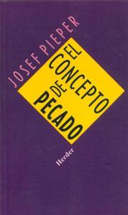 Cover of: Concepto de Pecado, El