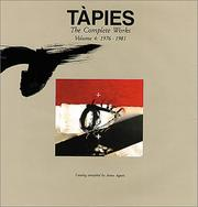 Cover of: Tapies: Complete Works Volume IV