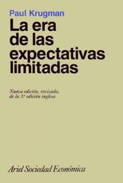 Cover of: La Era de Las Expectativas Limitadas