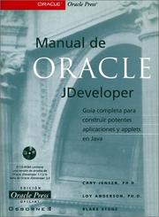 Cover of: Manual De Oracle JDeveloper