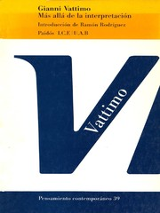 Cover of: Mas Alla De La Interpretacion