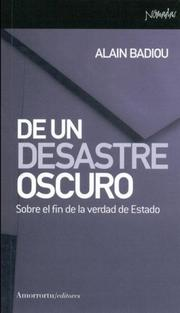Cover of: de Un Desastre Oscuro