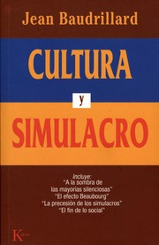 Cover of: Cultura y Simulacro