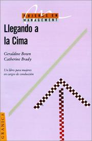 Cover of: Llegando a LA Cima (Mujeres en Management)