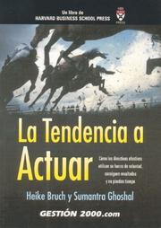 Cover of: La tendencia a actuar