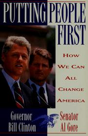 Cover of: Putting people first: how we can all change America