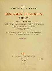 Cover of: The pictorial life of Benjamin Franklin